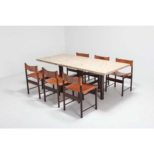 Modern Terazzo Marble Dining Table by Jan Vlug For Sale - Image 6 of 9