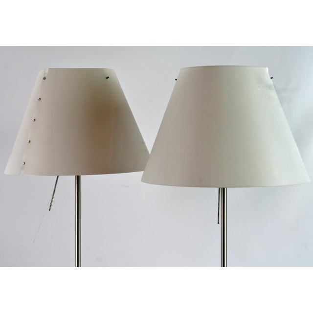 Vintage Paolo Rizzato Luceplan 'Costanza' Table Lamps - a Pair For Sale In Miami - Image 6 of 10