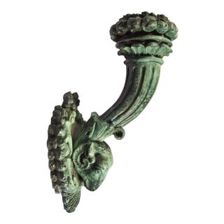 Bronze Torch Sconce For Sale