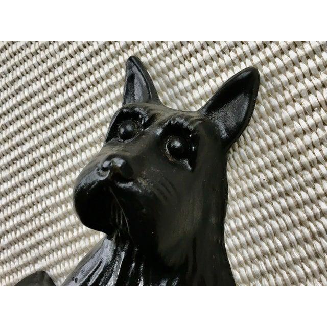 Metal Vintage Black Cast Iron Scottish Terrier Doorstop/Bookend For Sale - Image 7 of 8