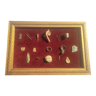 Museum Quality Artifacts in Gilded Wood Frame From Eastern Europe For Sale