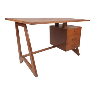 Unusual Mid-Century Modern Desk in the Style of Paul Frankl