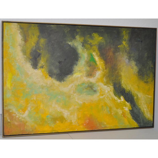 Vintage Abstract Oil Painting C.1969 - Image 4 of 6
