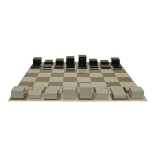 Contemporary Powder Coated Aluminum Chess Set For Sale
