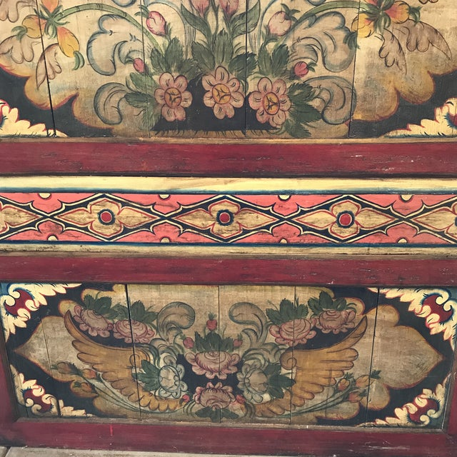 South East Asian Painted Teak Wall Panel - Image 4 of 4