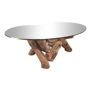 Organic Modern Cypress Driftwood Coffee Table For Sale