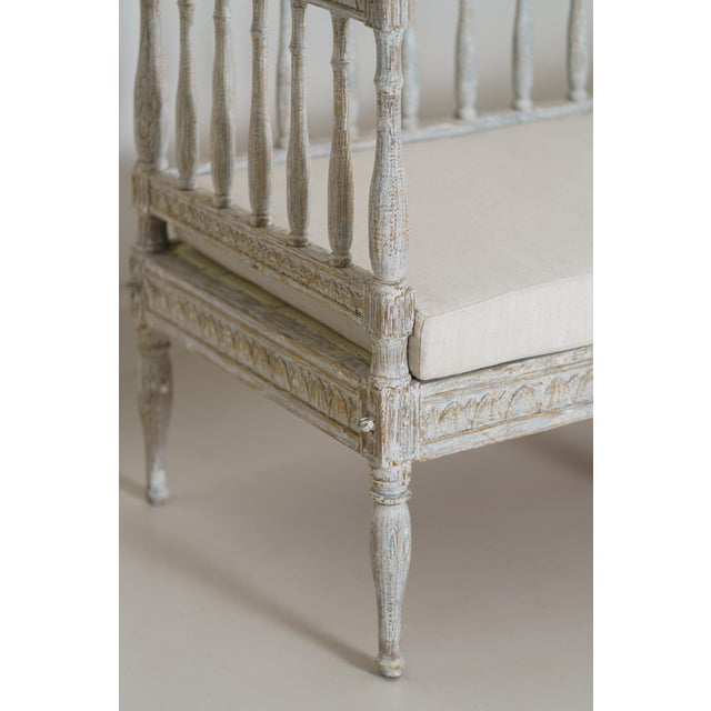 19th Century Swedish Gustavian Period Sofa Bench For Sale In Wichita - Image 6 of 12
