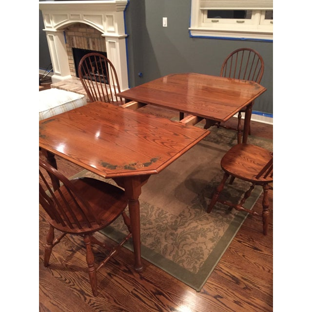 Oak L. Hitchcock Classic Briarcliffe Extension Dining Set For Sale - Image 7 of 11
