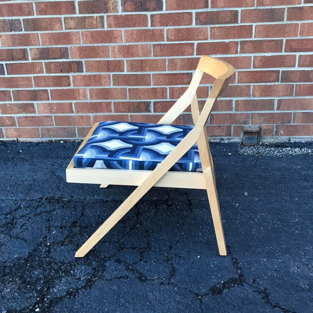 Minimalist Modern Custom Side Chairs - a Pair For Sale - Image 4 of 9