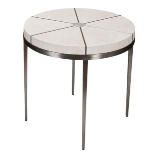 Sunset Lamp Table, Whitewash White For Sale