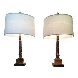 1970s Vintage Chapman Table Lamps - A Pair For Sale