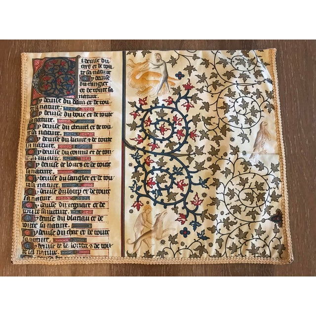1970s Gregorian Chant Text Textile For Sale In Kansas City - Image 6 of 6