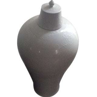 White Chinese Plum Vase For Sale