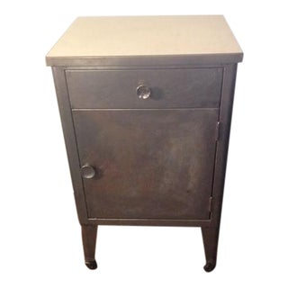 Vintage Industrial Metal Cabinet on Wheels
