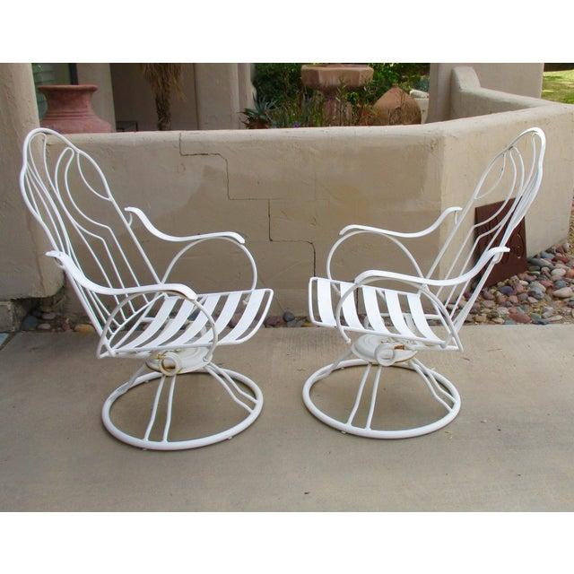 Pleasing Homecrest Swivel Rocker Patio Chair With Cushions A Pair Machost Co Dining Chair Design Ideas Machostcouk