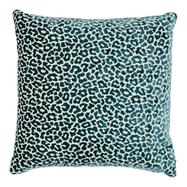 Schumacher Madeleine Pillow in Cadet For Sale