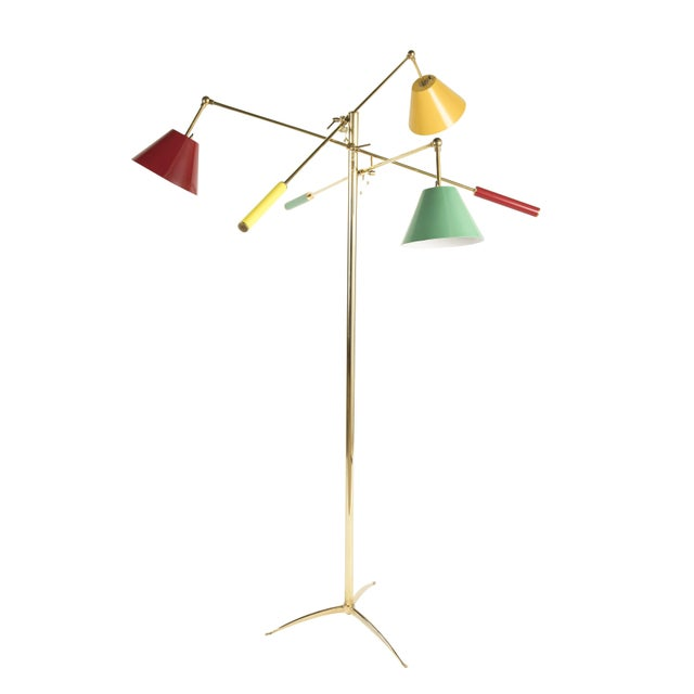 Aredoluce Triennale Floor Lamp Attributed to Gino Sarfatti For Sale - Image 4 of 9