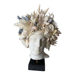 Contemporary Shell Encrusted Hygiea Head For Sale