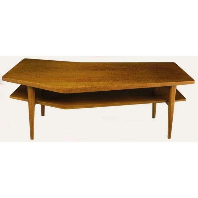 M.Singer & Sons Angled Italian Walnut Coffee Table - Image 2 of 9