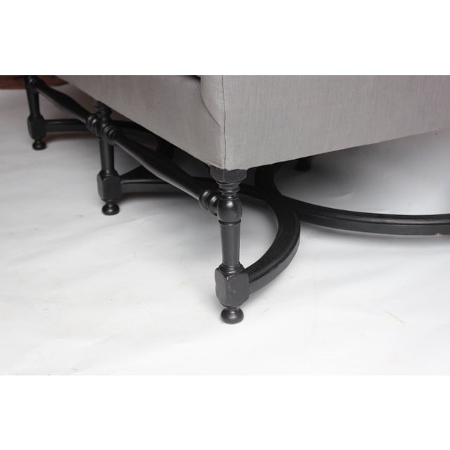 Mid 19th Century 19th Century French Ebonized Settee For Sale - Image 5 of 8