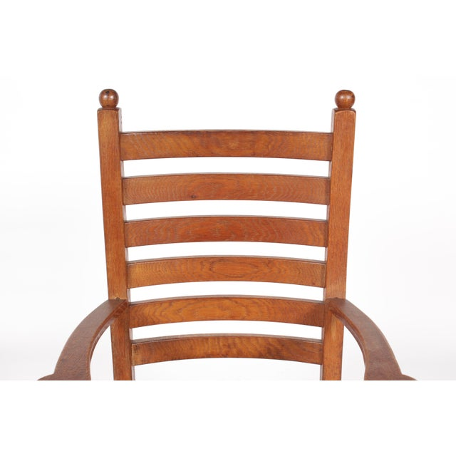 1930s Mission-Style Dining Chairs - Set of 6 - Image 7 of 11