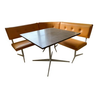 Mid Century Modern Banquette and Table For Sale