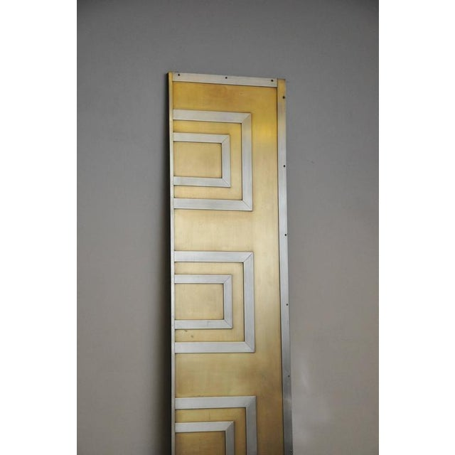 Bronze Glamorous Bronze and Stainless Entry Doors For Sale - Image 7 of 7