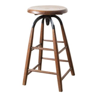 Vintage Atelier Stool For Sale