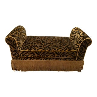 1990s Vintage Animal-Print Bench For Sale