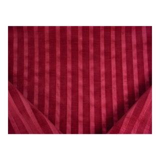 Kravet Couture Avignon Stripe Ruby Textured Velvet Upholstery Fabric - 4 Yards For Sale