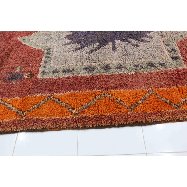 "Boho Chic 1970s Moroccan Boujad, 5'10"" X 13'3"" For Sale - Image 3 of 5"