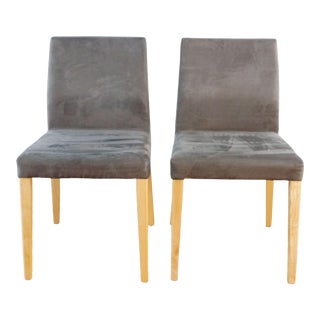 Crate & Barrel Italian Dining Chairs- A Pair For Sale