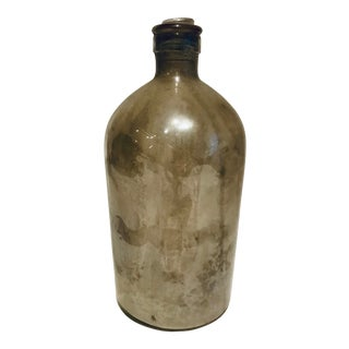 Antique Mercury Glass Bottle For Sale