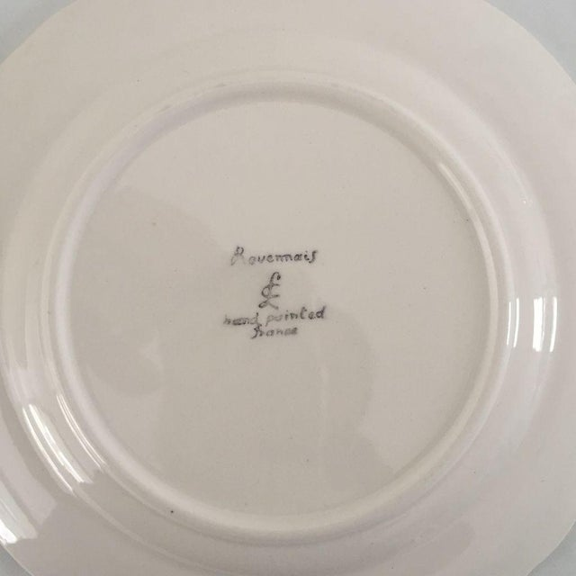 Vintage Hand Painted French Bread Plates - Set of 12 For Sale - Image 4 of 5