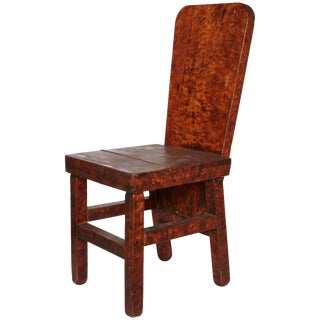 Late 19th Century American Handmade Burled Wood Chair For Sale