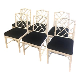 Modern Jonathan Adler Chippendale Side Chairs - Set of 6 For Sale