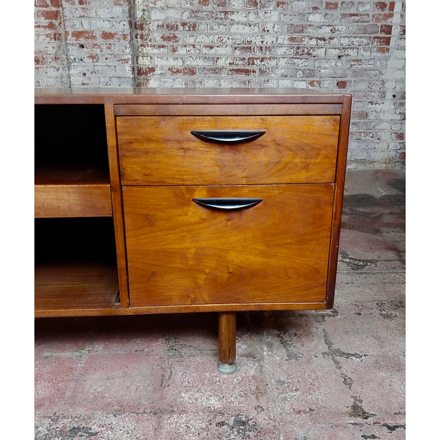 1950s Jens Risom -Danish Mid Century Modern Walnut Credenza-C1950s For Sale - Image 5 of 10