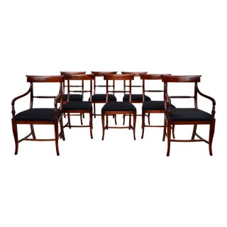 English Regency Dining Chairs, Set of 8