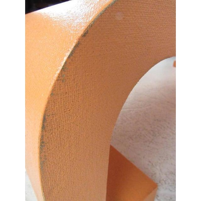 Orange Vintage Modern Karl Springer Style Coffee Table For Sale - Image 8 of 10