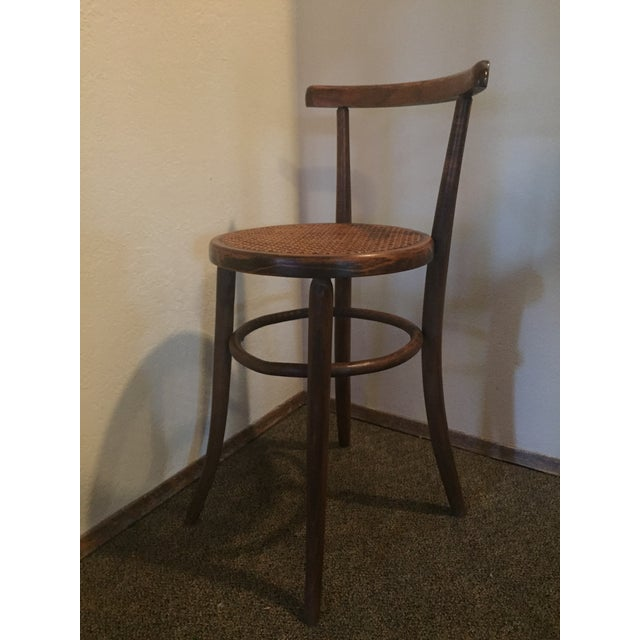 1930s 1930s Antique Thonet Style Bentwood Counter Bar Stool For Sale - Image 5 of 13