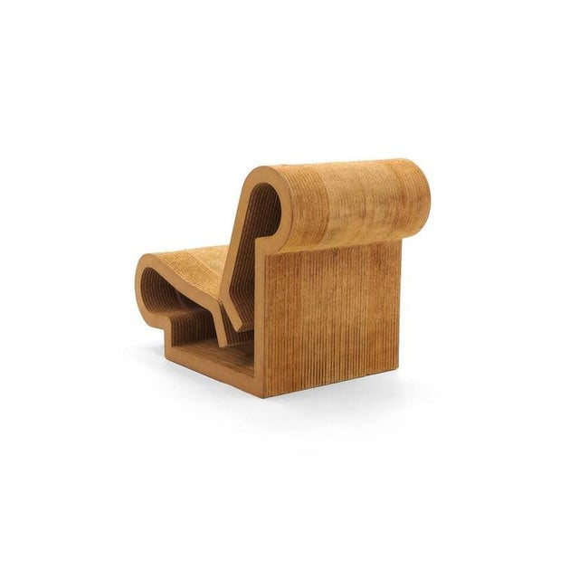 Modern Rare Original Frank Gehry, Easy Edges, Cardboard Contour Chair For Sale - Image 3 of 10