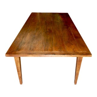 Rustic Farm Table in Vintage White Oak by Petersen Antiques For Sale