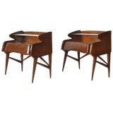 Image of Pair of 1950s Italian Nightstands For Sale