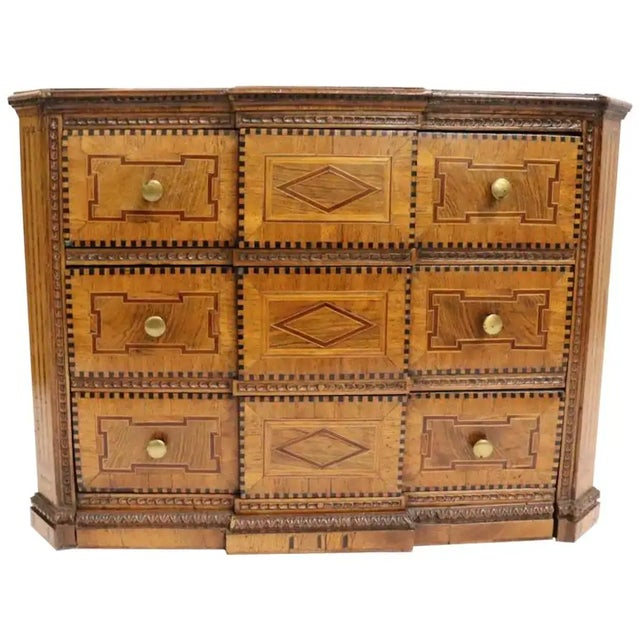 Brown Early 19th Century Italian Neoclassical Fruitwood Jewelry or Silver Chest For Sale - Image 8 of 8