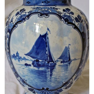 1870s Delft Blue & White Covered Jar Preview