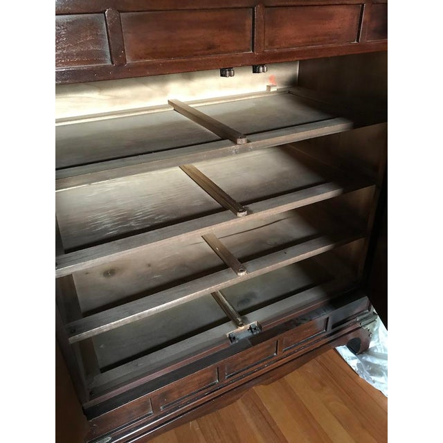 Henredon Tansu Collection Armoire Wardrobe For Sale - Image 9 of 13