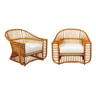 Unique Restored Pair of Tiara Lounge or Club Chairs by Henry Olko, Circa 1979 For Sale