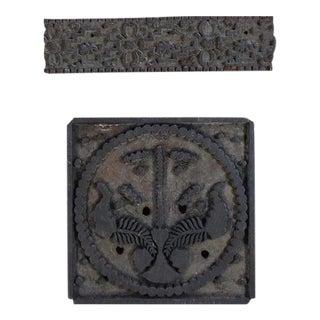 Indian Textile Printing Blocks, 2 Pieces