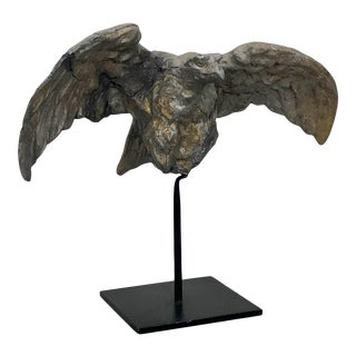 19th Century American Zinc Eagle Sculpture For Sale
