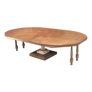 Photo Does Not Do Justice - Iron Urn Base With White Walnut Top Dining Table Amazing Deal Must Sell For Sale
